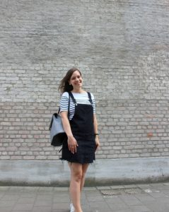 Non-stop Noor: That dungaree dress, wearing my black dungaree dress from Pull & Bear