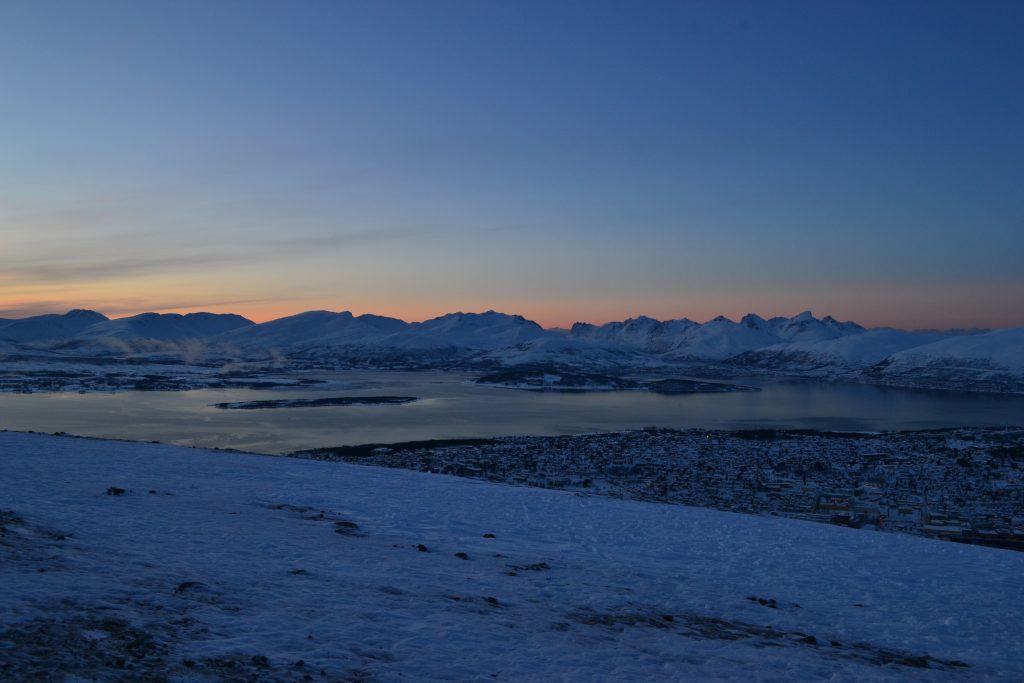 Non-stop Noor: The best things we did in Lapland - sunset over Tromso with Fjellheisen cable car