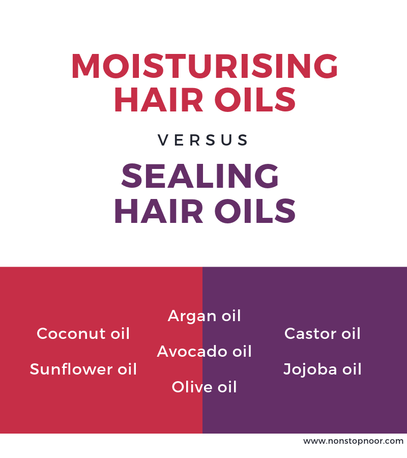 Moisturising hair oils versus sealing hair oil