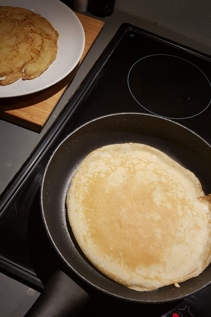 Non-stop Noor: November & December in pictures - First time backing pancakes myself