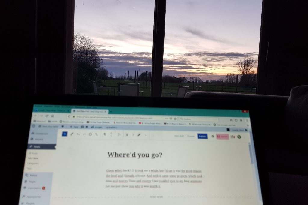 Non-stop Noor: We bought a house! Blogging with a sunset